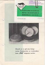 BERNSBACH, Prospekt 1962, Hermann Hecker KG Metallwaren-Fabrik