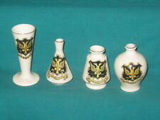 4 Crested Pieces - all FALMOUTH crest