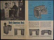 Early American Desk HowTo Build Plans Colonial Style