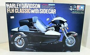 NEW STAR HARLEY DAVIDSON FLH CLASSIC WITH SIDECAR 1/6 SCALE MODELKIT,NO TAMIYA
