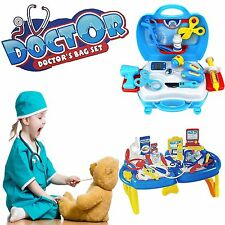 Kids Educational Doctor Nurse Medical Set Accessory Kit Folding Table Play Toy