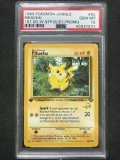 PSA 10 Gem Mint - PIKACHU - GOLD W STAMP - Pokemon TCG Jungle 1st Edition #60