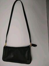 Black Leather Small Crossbody Organizer Bag Purse – Giani Bernini