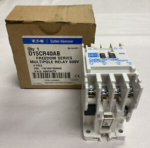 Cutler-Hammer D15CR40AB Multipole Relay 4 Pole 600V New