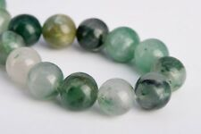 10MM Genuine Natural Green Calcedony Grade AAA Round Gemstone Loose Beads 7.5""