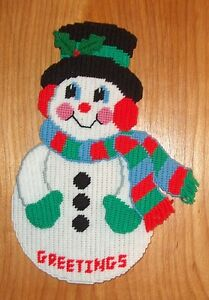 New Christmas Winter Snowman Wall Door Art Decor Hanging 16-1/2 inches tall