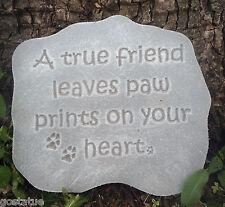 Plaster or Concrete pet memorial monument plastic mold casting plastic mould