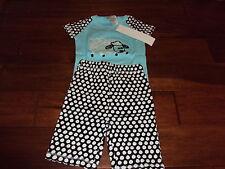 Sz 6 Girls The Company Store Kids Sheep Polka Dot 100% Cotton Summer Pajama Set