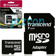 Transcend 16GB 16G Class 10 Micro SDHC SD Flash Card Mobile C10 TF 133x 20MB/s