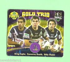 2007 GOLD SERIES  RUGBY LEAGUE TAZO - #56  GOLD TRIO, MELBOURNE STORM