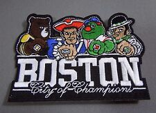 BOSTON-CityofChampions Iron-On Patch for Cap-Shirt w/Bruins/Celtics/Red Sox/Pats