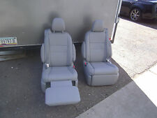 Toyota Sienna   set 2 Leather Bucket Seats Recliners light  Gray  Color