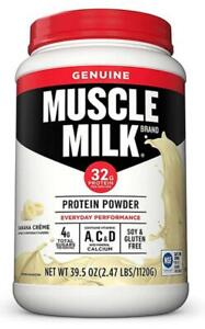 Muscle Milk Genuine Protein Powder Banana Creme Flavor 2.47 lbs
