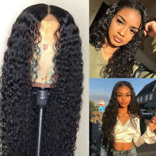 Brazilian Human Hair Wigs Full Lace Wig With Baby Hair Deep Curly Wig Cosplay