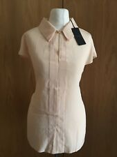Ted Baker Peach Silk  Blouse Top Sz 3 / 12-14  New