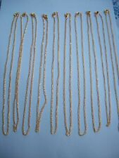 10 x 18inch x 2mm  gold colour open link chains ideal for jewellery making