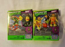 TMNT:Teenage Mutant Ninja Turtles: Mega Bloks - Mikey Nunchuk & Raph Skate - NIB