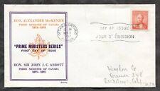 p1336 - Canada 1952 FDC Cover. PM MacKenzie. Scott Cachet. Maple Leaf ✉