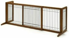 NEW Richell Large Wood Freestanding Pet Gate 94136