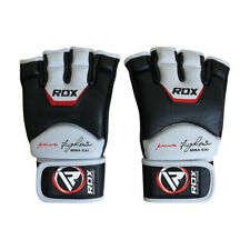 RDX Grappling Gloves Fight Leather Tech MMA Training Punch Bag Sparring UFC a L