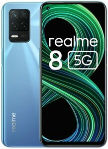 realme 8 5G Smartphone 5G Android Dual Sim 64GB 6,5 Zoll Display Supersonic Blue