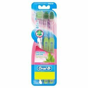 2 x Oral-B Pro-Dense Gum Care Green Tea Extra Soft Ultra Thin 18 Toothbrush