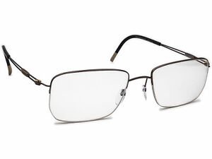 Silhouette Eyeglasses 5279 40 6052 Brown Half Rim Frame Austria 54[]18 140