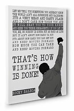 Rocky Balboa Movie Quote Canvas Wall Art Print Picture 16x24 inches UK