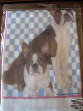 Boston Terrier Dish Towel and Matching Hot Pad