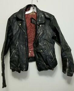 Vintage Sportclad Brand Genuine Horsehide Leather Motorcycle Biker Jacket