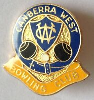 Canberra West Bowling Club Badge Rare Vintage (M8)
