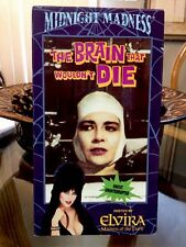 The Brain That Wouldnt Die (VHS, 1991) Hosted by Elvira (Uncut & Uninterrupted)