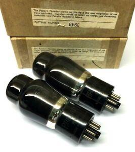 M.Pair 6F6G NOS Engraved Base Brimar  UK Valve Tubes