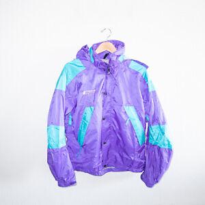 Vintage The North Face Purple Turquoise Zip Up Ski Jacket 1992 Medium VTG