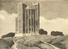 SUFFOLK. Orford Castle. By Martin Hardie 1947 old vintage print picture