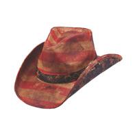 Peter Grimm Patroit Tea Stained Cowboy Hat PGD9254-TEA