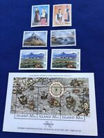 Iceland Stamps,6 & s/s of 3 ,Scott#s below,MNH,1989,CatVal:$19US,Pr:$6US, (2158)