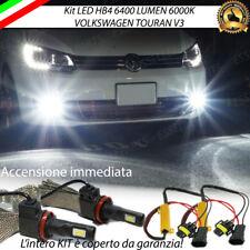 KIT FULL LED VW TOURAN V3 LAMPADE HB4 FENDINEBBIA CANBUS 6400 LUMEN 6000K