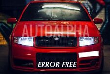 SKODA OCTAVIA FABIA XENON ICE WHITE SIDELIGHT BULBS UPGRADE CANBUS ERROR FREE