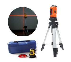 TRIPOD Rotary Laser Lazer Level Cross Line Rotating Self Leveling Profession