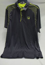 And 1 gray/neon yellow polo shirt mens L ~ NWOT