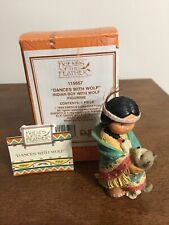 """Enesco Friends of The Feather """"""""Dances With Wolf"""" Figurine 1994"""