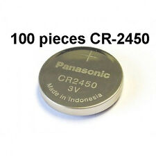 CR2450 Panasonic CR 2450 3V Button Coin Cell Battery Genuine 3.0V - 100 Pieces