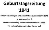 Geburtstagszeitung 1941 Zeitung vom / zum 79. Geburtstag Geschenk Film Theater