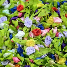 Roses Satin Ribbon Various Collours 50PCS
