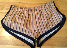 Petro Zillia-New w/o tags:cute Striped retro print black trim Short Shorts:SMALL