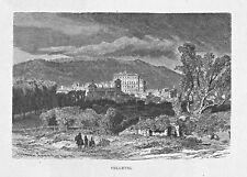 Velletri, Rom, Latium, Italy - Gesamtansicht - Stich, Holzstich um 1885