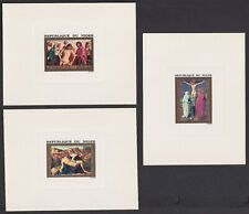 Niger Scott C210-C212 VF 1973 Easter Paintings 3 Deluxe Proof Sheets