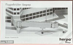 6 Gangways Fluggastbrücken Airport Accessories 1:500 Herpa Flughafenzubehör