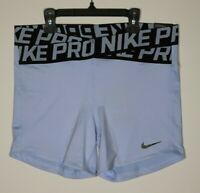 Nike Women's 5'' Intertwist Training Shorts University Blue AH8768-415 NWT